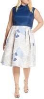 Chi Chi London Curve Cyd Satin & Floral Print Cocktail Dress