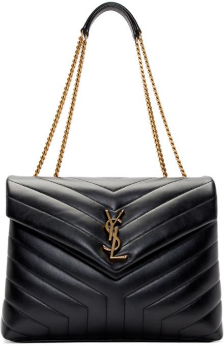 Saint Laurent Black Medium Loulou Bag