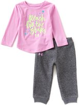 Under Armour Baby Girls 12-24 Months Reach For The Stars Long-Sleeve Tee & Pants