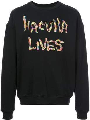 Haculla Oversized Back Print Sweatshirt