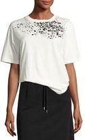 Public School Adara Crewneck Cotton T-Shirt, Off-White