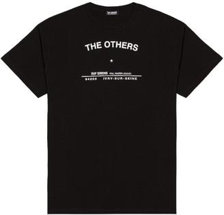 Raf Simons Tour T-Shirt in Black | FWRD