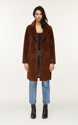 Soia & Kyo RUBINA relaxed-fit embossed wool coat