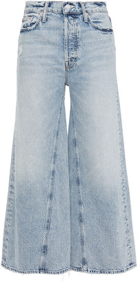 Mother The Enchanter Cropped High-rise Wide-leg Jeans