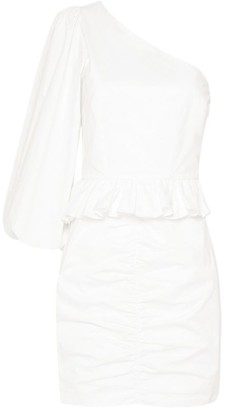 Shona Joy Grant One-Shoulder Ruched Mini Dress