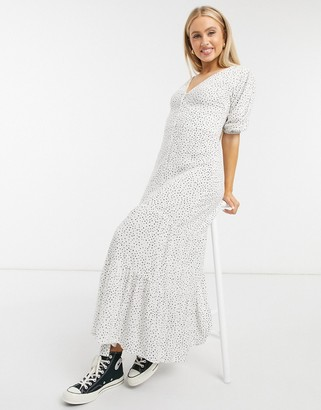 Miss Selfridge button front maxi dress in ivory