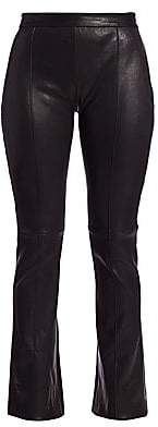ADAM by Adam Lippes Women's Leather Kick Flare Trousers