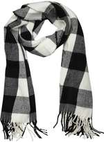 Monochrome Gingham Check Scarf