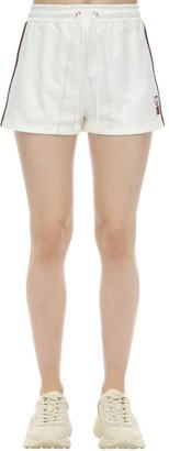 Gucci Gg Logo Techno Jersey Shorts