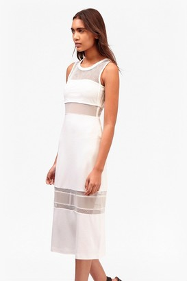 French Connection Manhattan Mesh Panelled Midi Dress