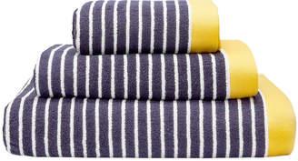 Joules Kensington Stripe Towel - Navy - Bath Sheet