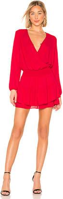 Krisa Smocked Surplice Mini Dress