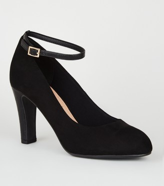New Look Suedette Round Toe Court Shoes
