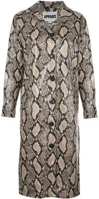 Apparis snake print jacket