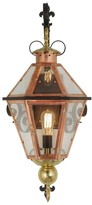The Well Appointed House Millesime Exterior Lantern in Copper, Brass and Bronze