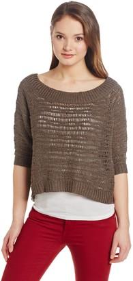 Robert Rodriguez Women's Crocheted Cropped Sweater