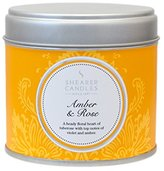 Camilla And Marc Shearer Candles Amber and Rose Large Scented Silver Tin Candle - White