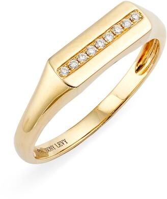 Bony Levy Kiera Boyfriend Diamond Signet Ring
