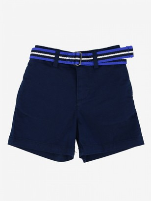 Polo Ralph Lauren Kid Shorts With Striped Belt