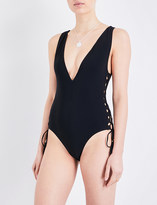 Zimmermann Divinity lace-up swimsuit