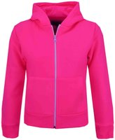 A2Z 4 Kids® Kids Girls & Boys Plain Fleece Hoodie Zip Up Style Zipper Jacket Age 5