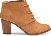 Toms Wheat Suede Women's Lunata Lace-Up Booties