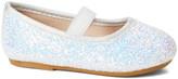 Zula Shoes Girls' Ballet Flats WHITE - White Glitter Sequin Flat - Girls