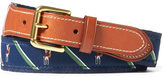 Ralph Lauren Fox-Overlay Webbed Belt