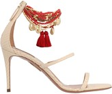 Aquazzura Animal Print Sandals