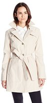 Larry Levine Women's Single Breasted Trench Coat