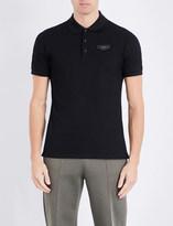 Givenchy Leather-badge cotton-piqué polo shirt