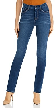 7 For All Mankind JEN7 by Slim Straight-Leg Jeans in Classic Medium Blue