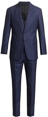 Giorgio Armani Pin Dot Virgin Wool Suit