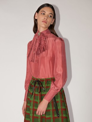 Gucci Lvr Exclusive Silk Jabot Shirt