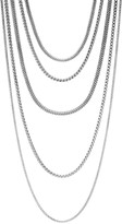 John Hardy Sterling Silver Classic Chain Five Row Necklace, 17