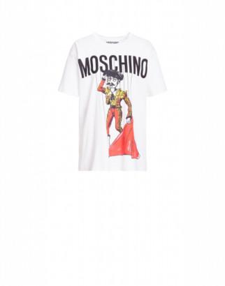 Moschino Jersey T-shirt Matador Puppet Woman White Size L It