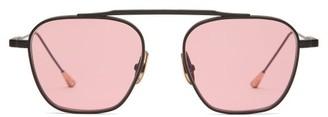 Spitfire Lunetterie Generale Square Titanium Sunglasses - Mens - Black