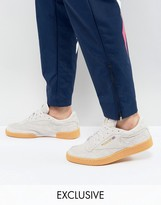 Reebok Club C 85 Ts Trainers In Grey Exclusive To Asos Cn2559