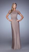 La Femme 21701 Ravishing Beaded Lace Gown