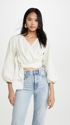 Free People Sophie Solid Wrap Top