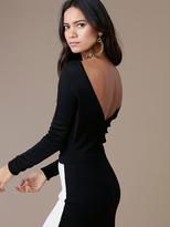 Diane von Furstenberg Long-Sleeve Knit Bodysuit