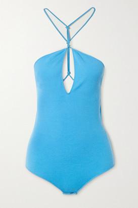 Bottega Veneta Knitted Halterneck Bodysuit - Blue