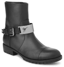 Giuseppe Zanotti Logo Leather Ankle Boots