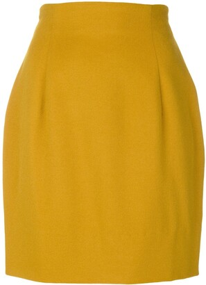 Versace Pre Owned Structured Mini Skirt
