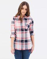 Dorothy Perkins Slub Button Check Shirt