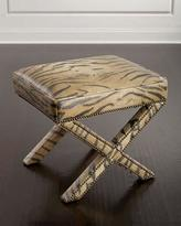 Massoud Animal-Print X Bench