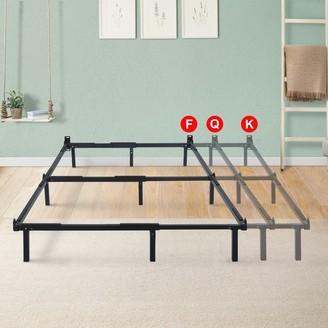 Overstock Sleeplanner Dura Metal Compact Adjustable Steel Bed Frame For Full Queen King
