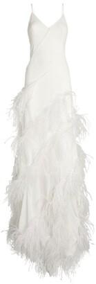 16Arlington Feather-Trim Clianthus Dress