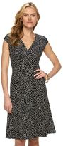 Chaps Women's Printed Pleated Empire Dress