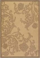 Couristan 1522/0121 Recife Rose Lattice Cocoa/Black Runner Rug, 2-Feet 3-Inch by 11-Feet 9-Inch